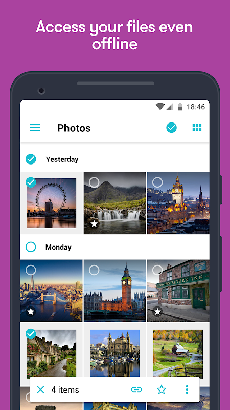 Android pCloud: Free Cloud Storage Screen 1