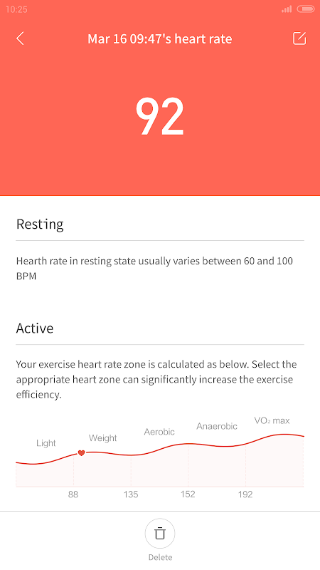 Android Mi Fit Screen 3