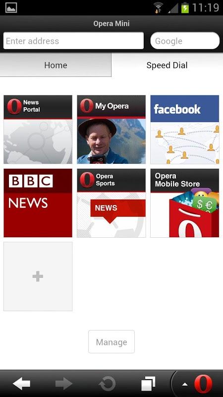 Opera Mini web browser 28.0.2254.119224 Screen 1