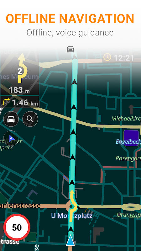 Android OsmAnd+ — Offline Travel Maps & Navigation Screen 2