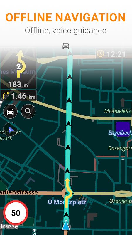 Android Maps & GPS Navigation OsmAnd+ Screen 2