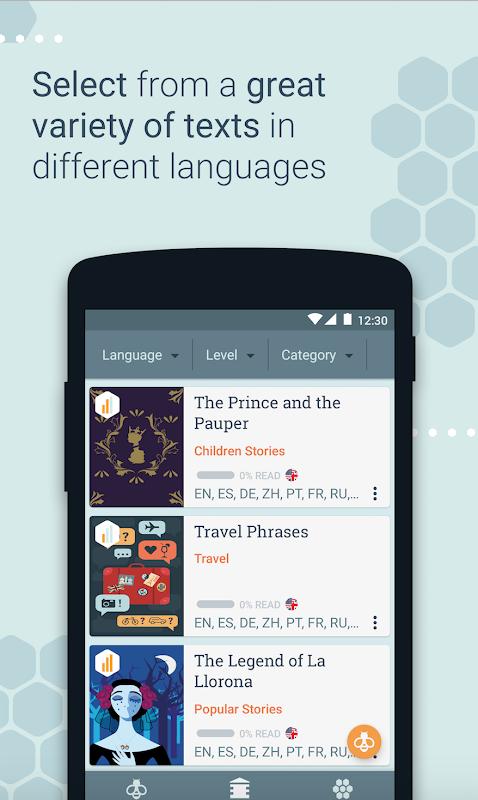 Beelinguapp: Learn a New Language with Audio Books 2.294 Screen 3