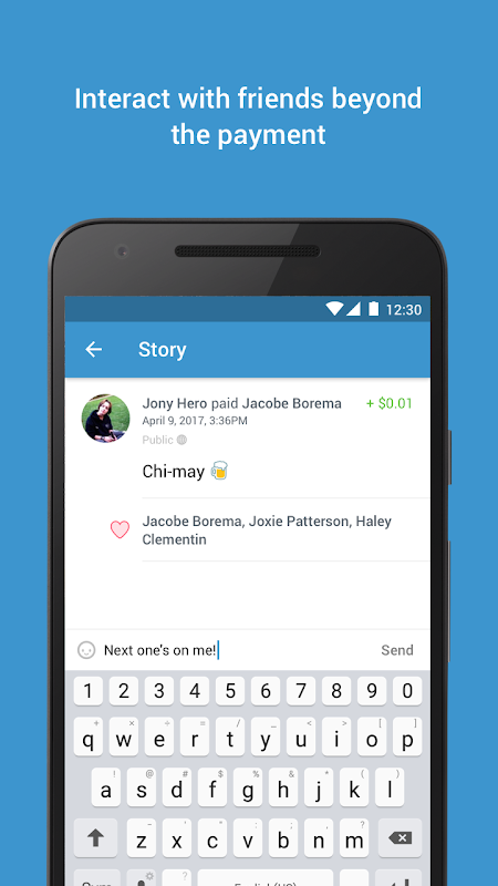 Android Venmo: Send & Receive Money Screen 3