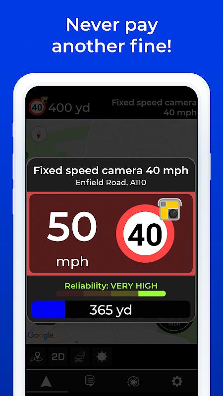 Radarbot Pro: Speed Camera Detector & Speedometer 7.0.3 Screen 1