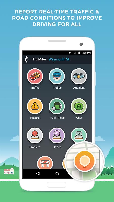 Waze - Sat Nav, Maps & Traffic 4.22.1.901 Screen 1