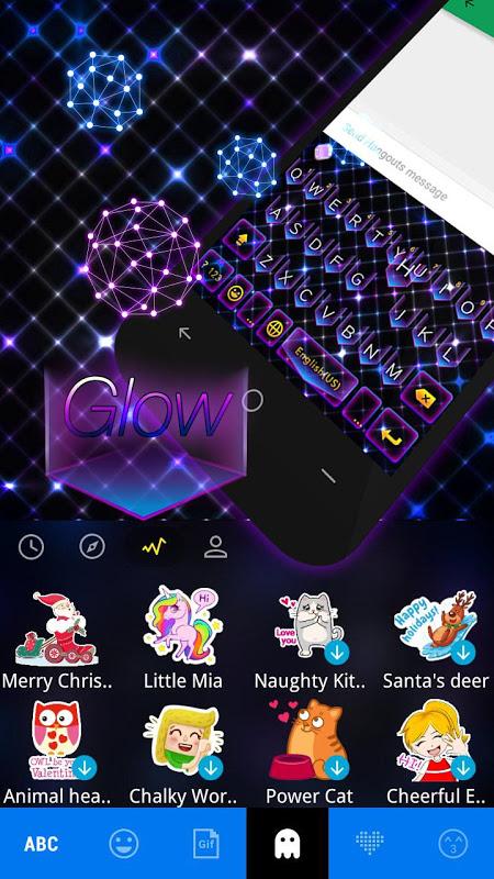 Glow Theme for Kika Keyboard APKs | Android APK