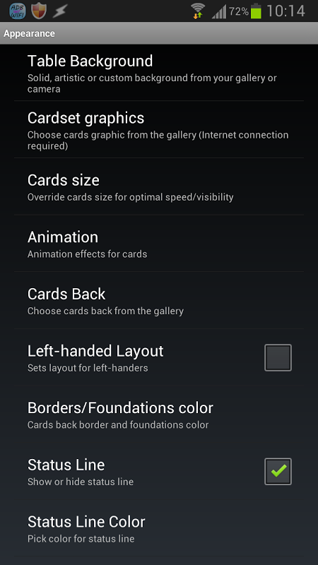 Android Russian Cell Screen 1