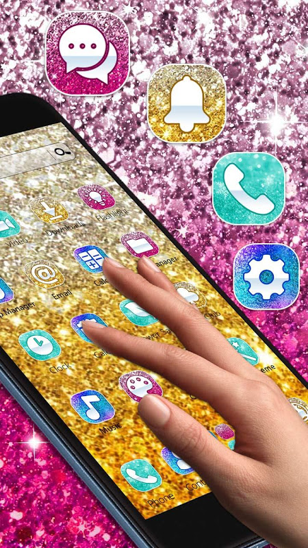 Android Colorful Glitter Dreamy Theme Screen 2