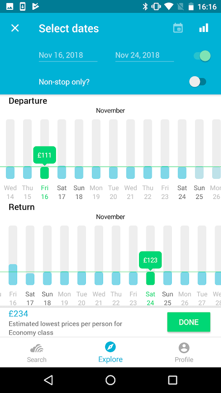 Skyscanner- Flights, Hotels, Trains and Car Hire 5.55 Screen 7