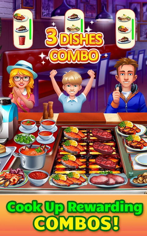 Android Cooking Craze: Crazy, Fast Restaurant Kitchen Game Screen 1