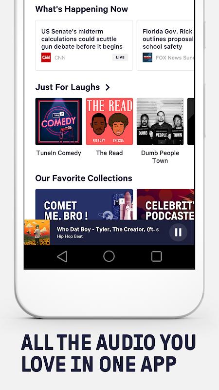 Android TuneIn Radio Screen 2