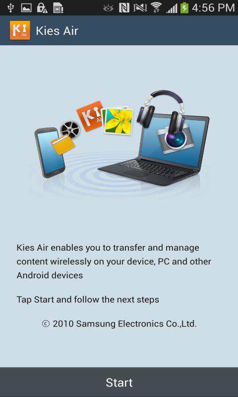 Android Kies Air Screen 1