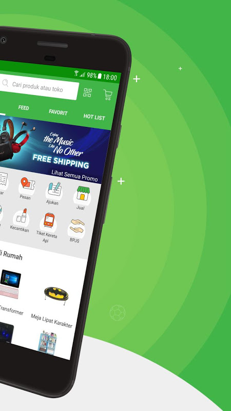 Android Tokopedia - Online Shopping & Mobile Recharge Screen 2