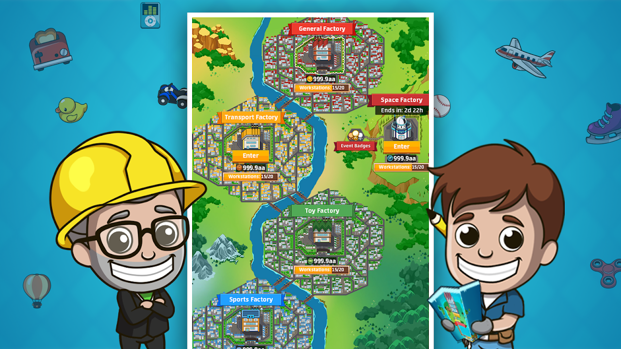 Idle Factory Tycoon 1.76.0 Screen 1