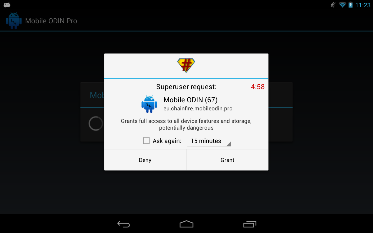 Android SuperSU Screen 1