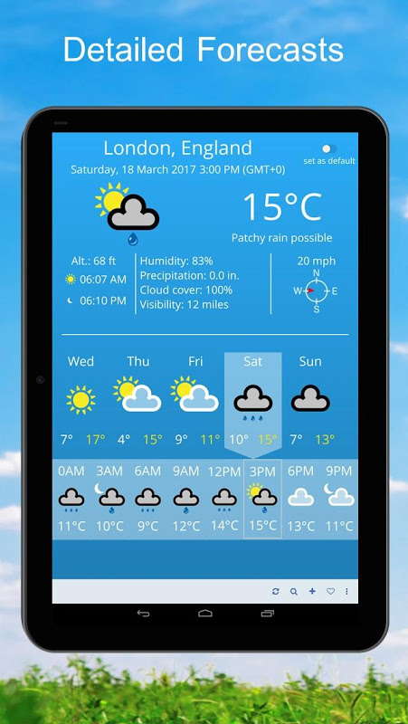 Android Weather 2 weeks Screen 2