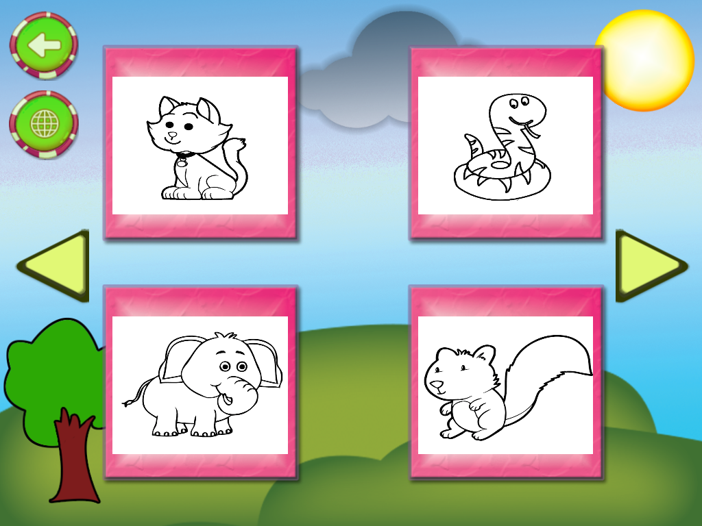 Android Kids Animal Drawing Screen 4