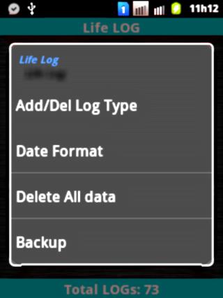Life Log Lite 4.05 Screen 4