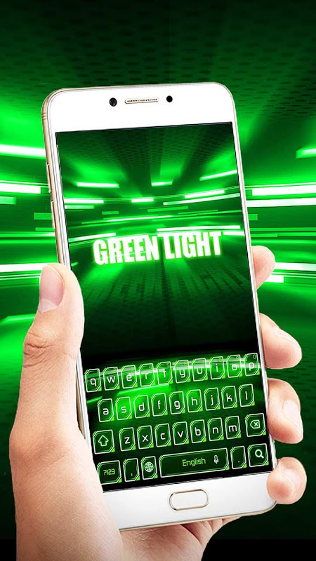 Android Green Light Keyboard Screen 4