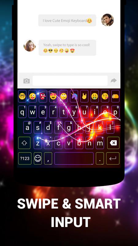 Android Cute Emoji Keyboard Premium - GIF, Emoticons Screen 7