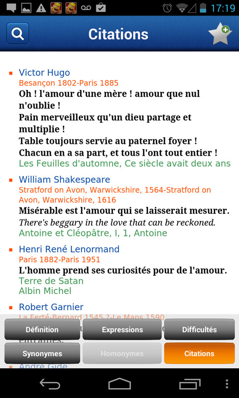 French Larousse dictionary 5.0.1 Screen 3
