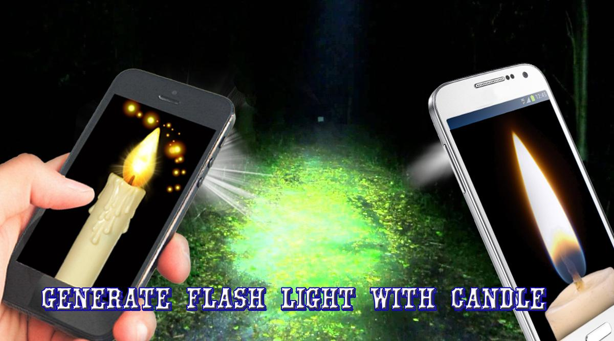 Android Candle FlashLight Screen 1