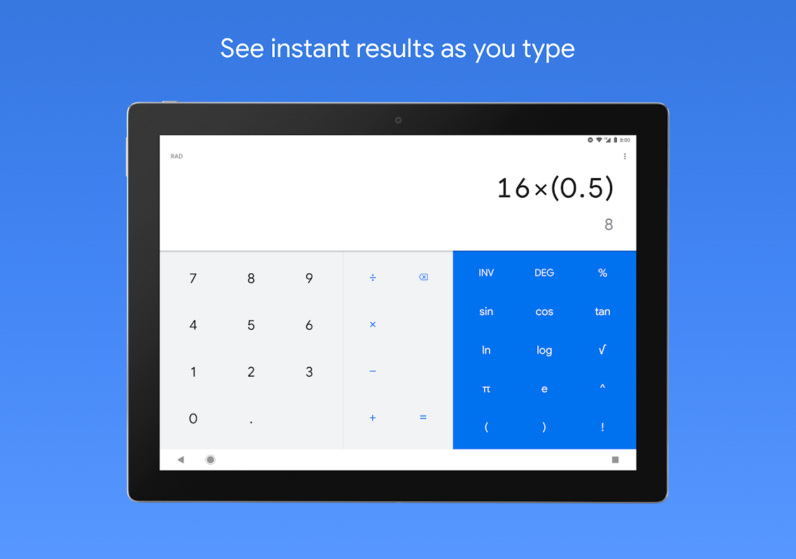 Android Calculator Screen 3
