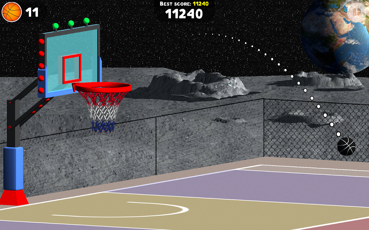 Android Basketball Sniper Shot Screen 3