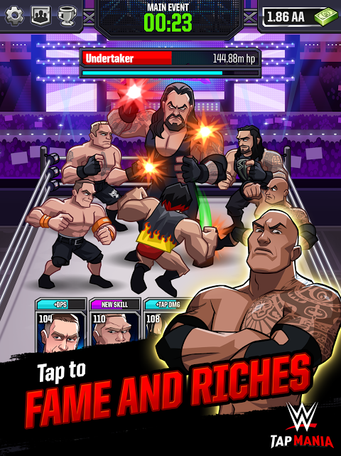 Android WWE Tap Mania Screen 5