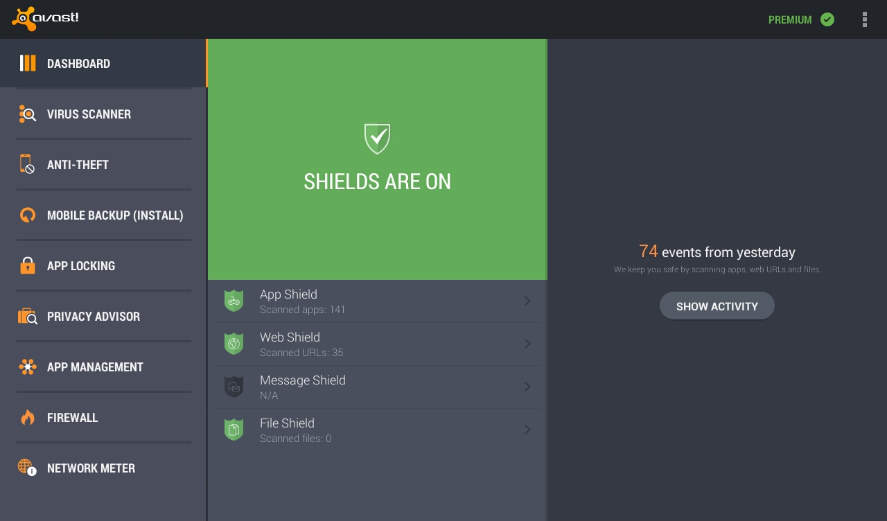 Android Avast Mobile Security Screen 3