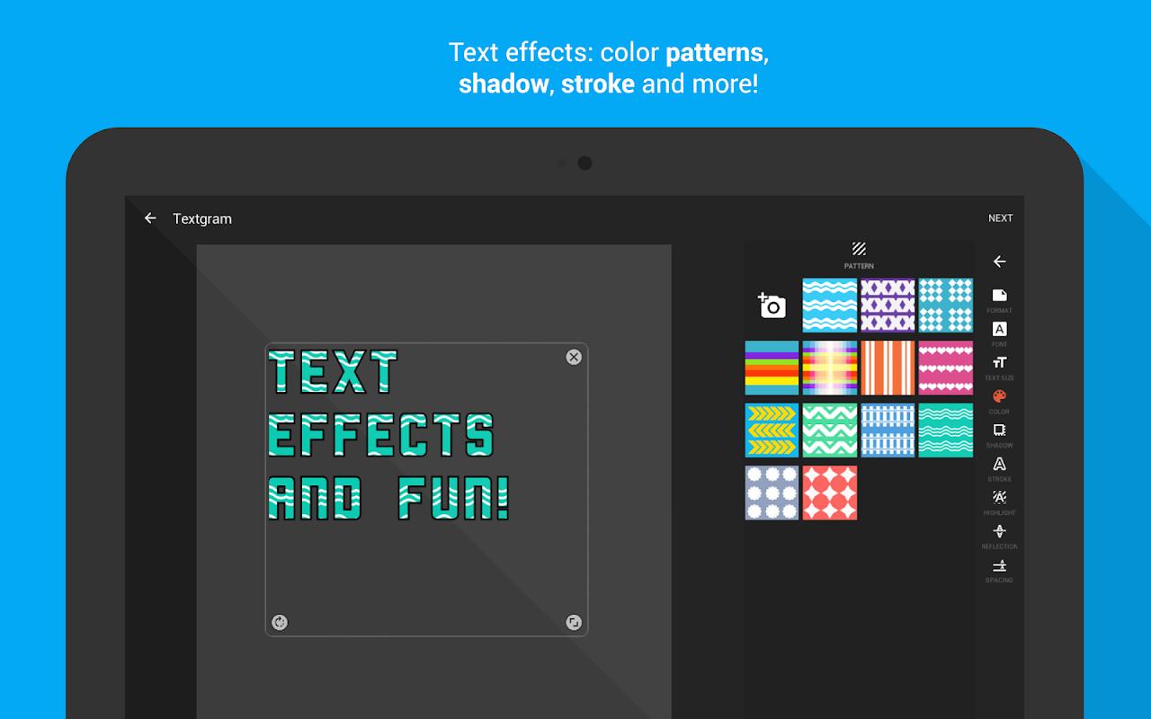 Android Textgram - write on photos Screen 12