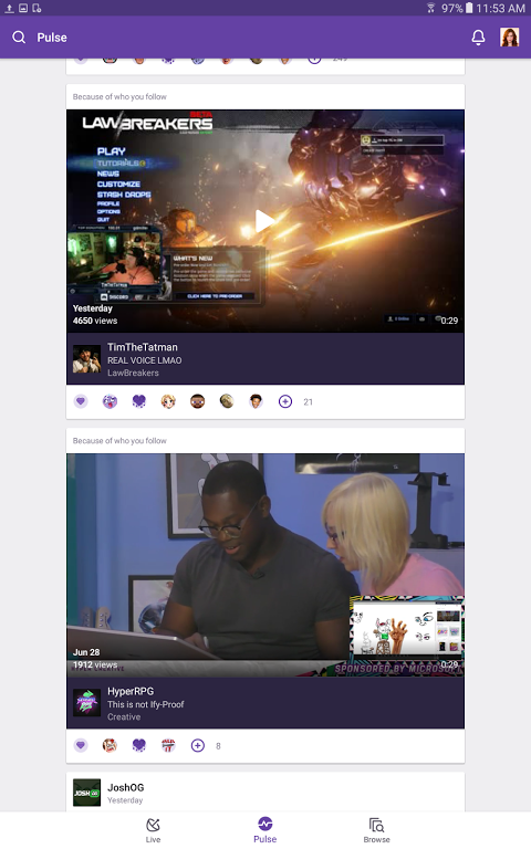 Android Twitch Screen 7