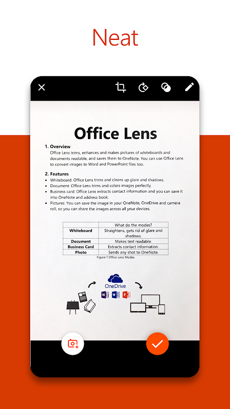 Android Microsoft Office Lens - PDF Scanner Screen 1