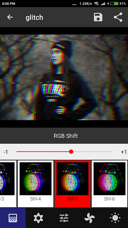 Onetap Glitch - Photo Editor 2.0.7 Screen 3