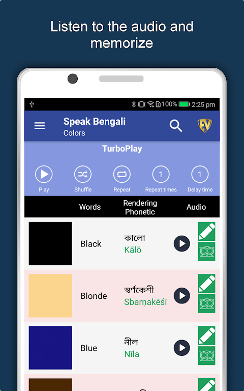 Speak Bengali : Learn Bengali Language Offline 1.0.6 Screen 9