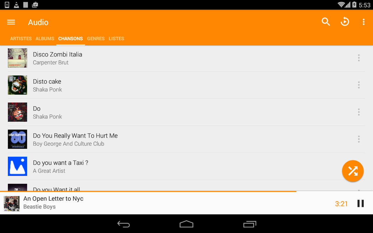 VLC for Android 3.1.0-RC4 Screen 3