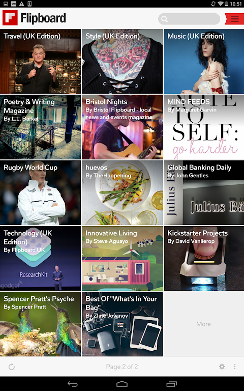 Android Flipboard: News For Any Topic Screen 11