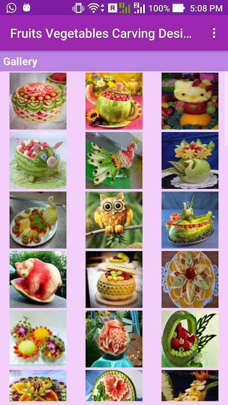 Android Fruits Vegetables Carving Screen 1