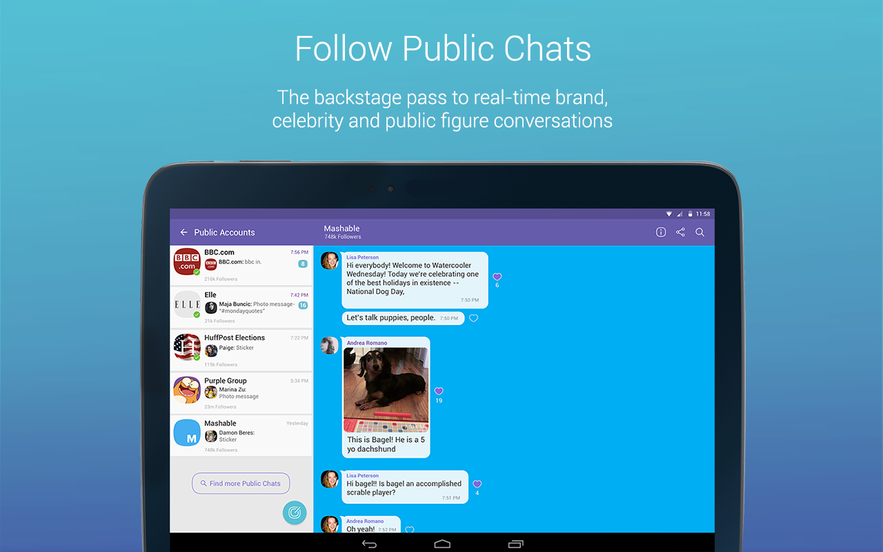 Android Viber Messenger: Text, call and make video calls Screen 3