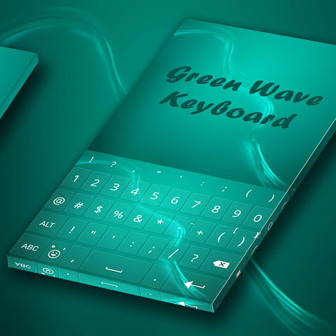 Android Green Wave Animated Keyboard Screen 3