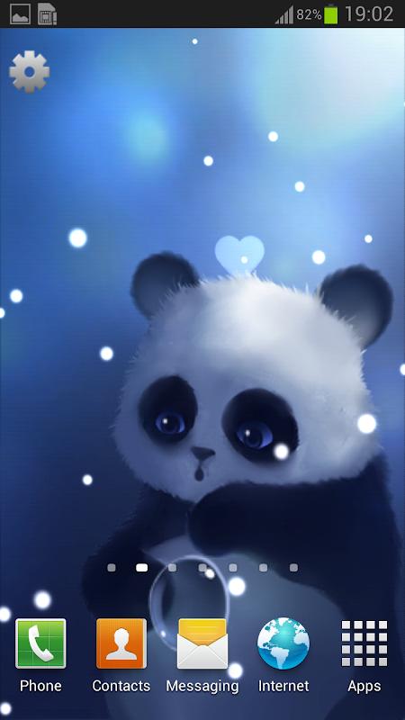 Android Panda Lite Live Wallpaper Screen 1