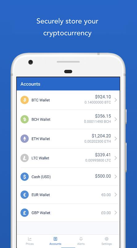 Android Bitcoin Wallet - Coinbase® Screen 2