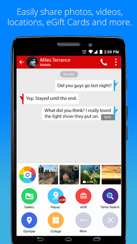 Android Verizon Messages Screen 2