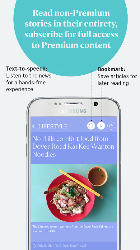 The Straits Times for Smartphone 6.7.9 Screen 2