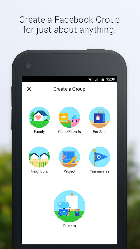 Android Groups Screen 2