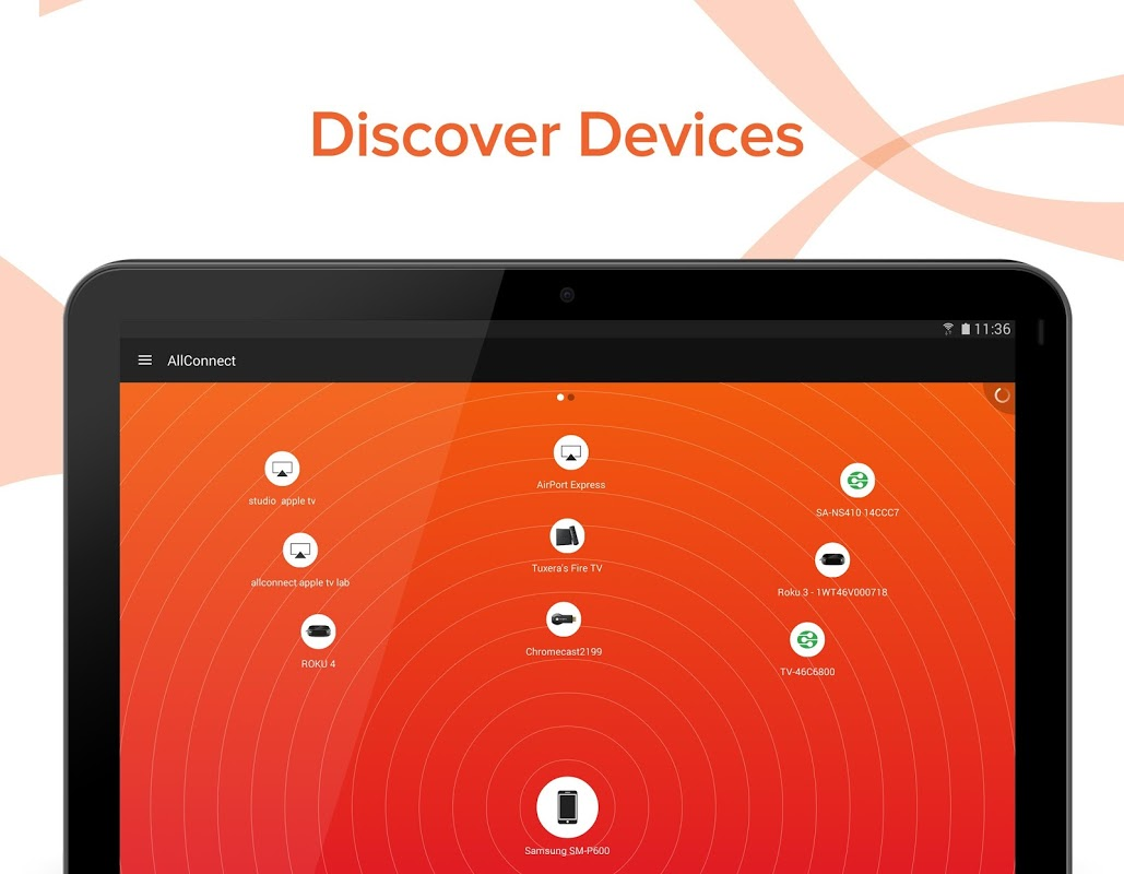 Android AllConnect - Play & Stream Screen 5
