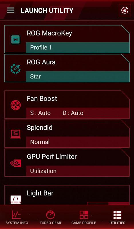 ROG Gaming Center 1.0.13 Screen 5