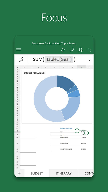 Android Microsoft Excel Screen 2