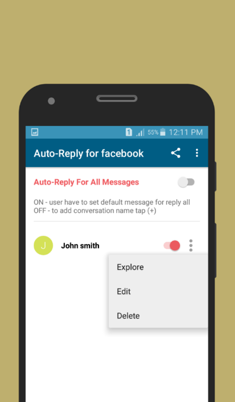 Auto-Reply for facebook APKs | Android APK