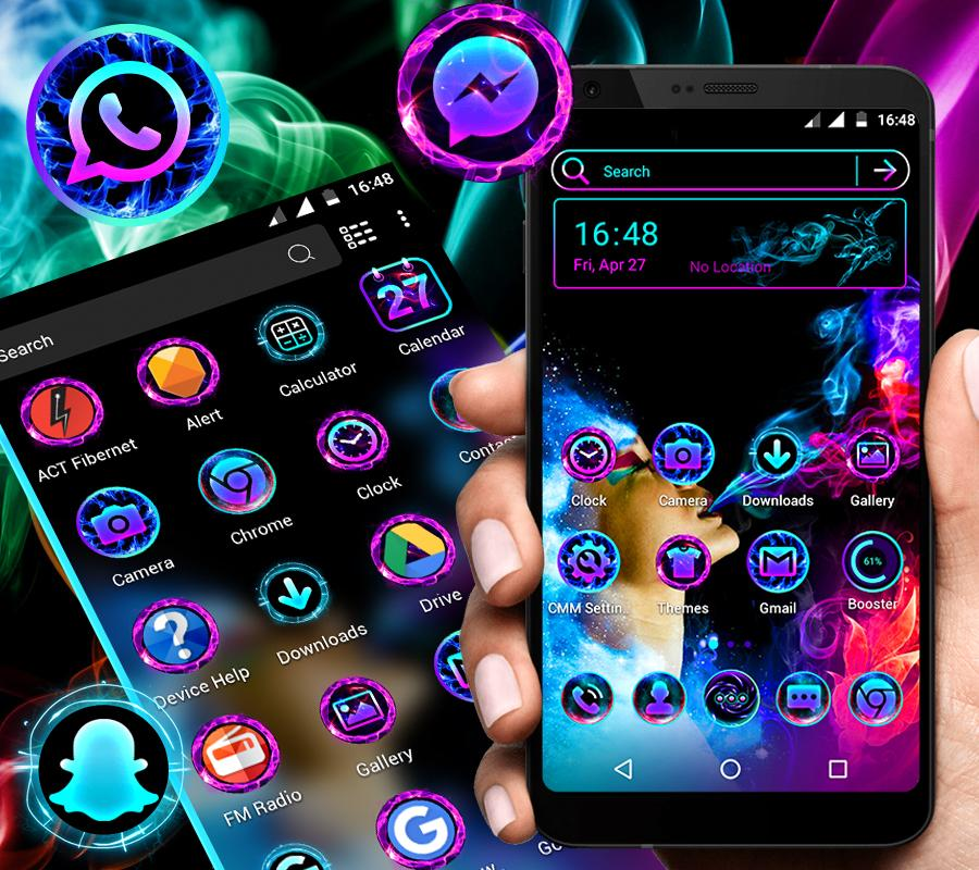 Smoke Colors Launcher Theme 1.4 Screen 2
